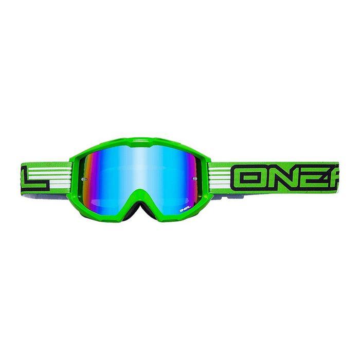 Кроссовая маска B1 RL FLAT, зелёная, радиум