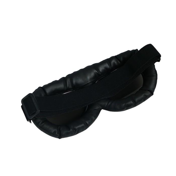 Очки для езды на мототехнике ретро Torso, стекло хром, черные