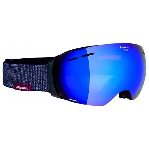 Очки горнолыжные Alpina 2018-19 Granby MM sph. black matt MM blue sph (4010115)
