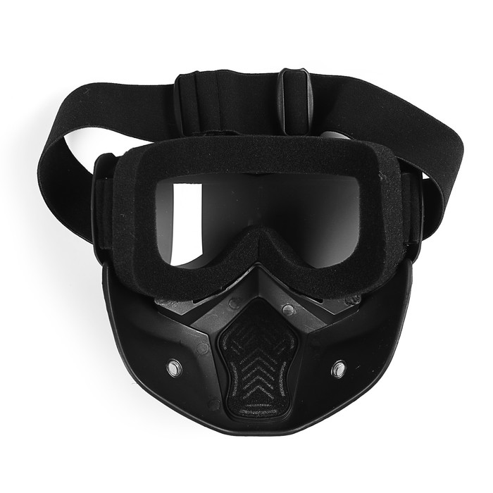 Очки-маска для езды на мототехнике Torso, разборные, стекло с затемнением, черные