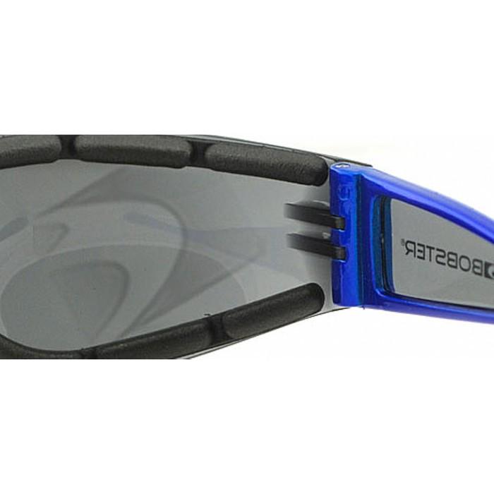 Мото очки Shield 2 голубые, дымчатые линзы
