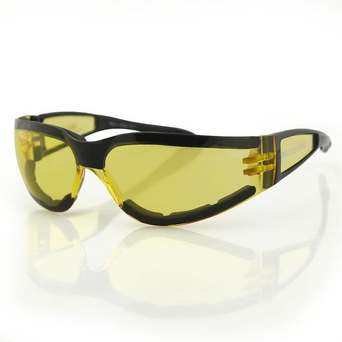 Очки Shield II чёрные с жёлтыми линзами