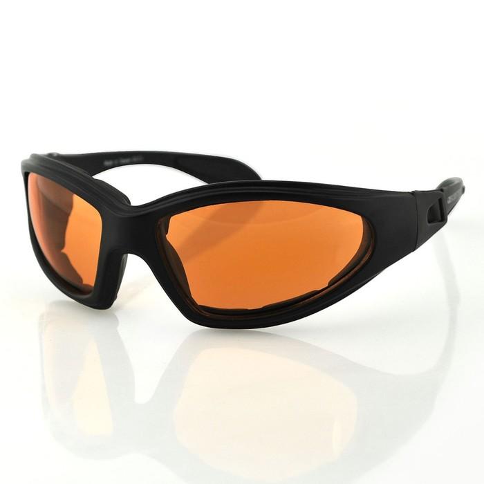 Очки GXR чёрные с янтарными линзами ANTIFOG