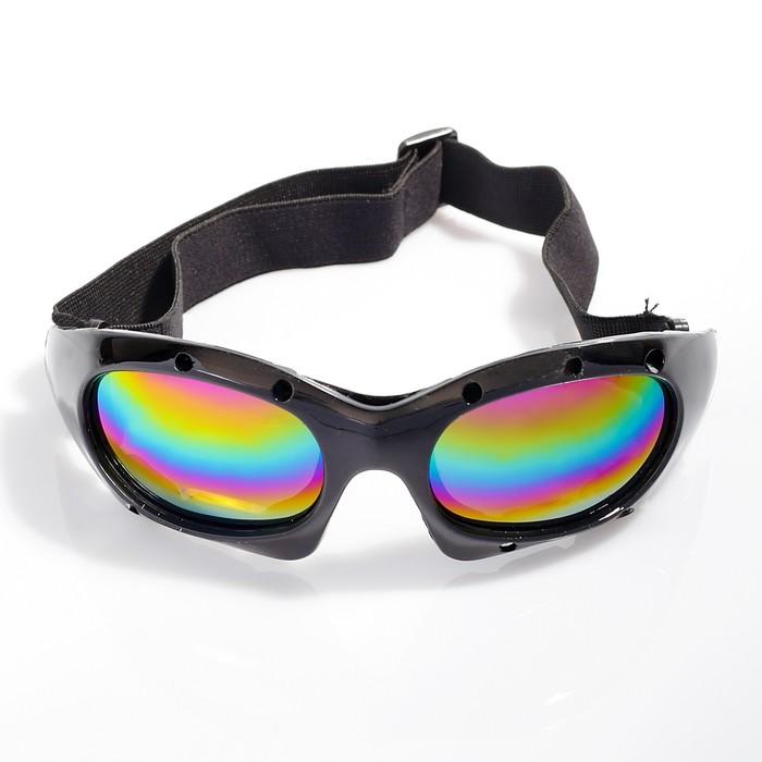 """Очки спортивные """"Koestler"""" KO-520, линзы радужные, оправа чёрная"""