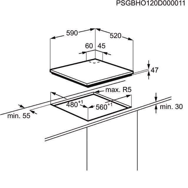 Встраиваемая поверхность Electrolux EGT96342YW