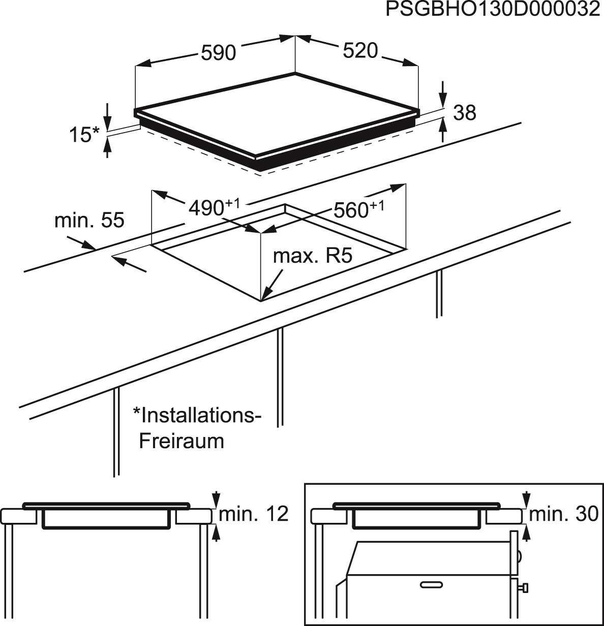 Встраиваемая поверхность Electrolux CPE644RBC