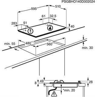 Встраиваемая поверхность Electrolux GPE363RBW