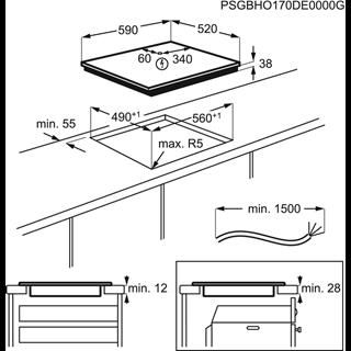 Встраиваемая варочная панель Zanussi CKZ6450KF
