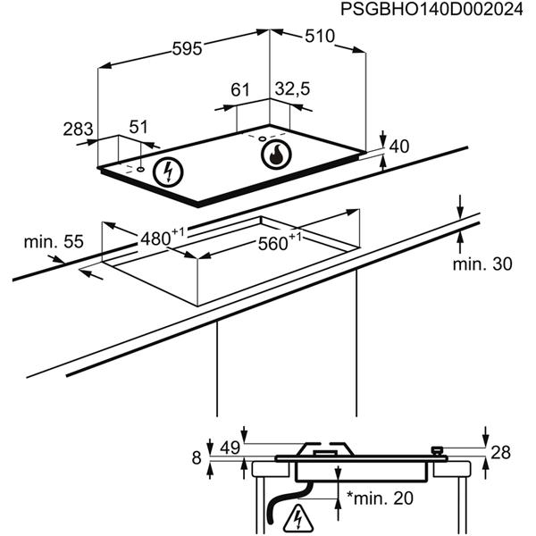 Встраиваемая варочная панель Zanussi GPZ363SB