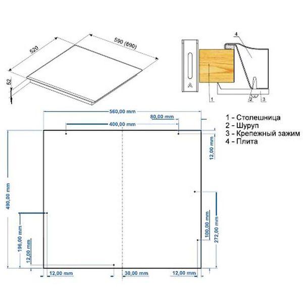 Встраиваемая варочная панель Hansa BHGI651550