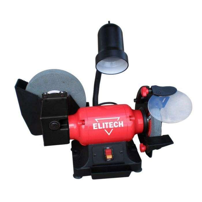 Станок точильный Elitech СТ 300 МС, 300 Вт, 2850/130 об/мин, 200х40х20 мм, 220 В