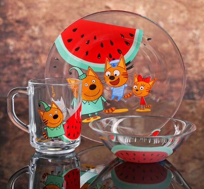 Набор посуды Pasabahce Три кота. Арбуз (3879680)