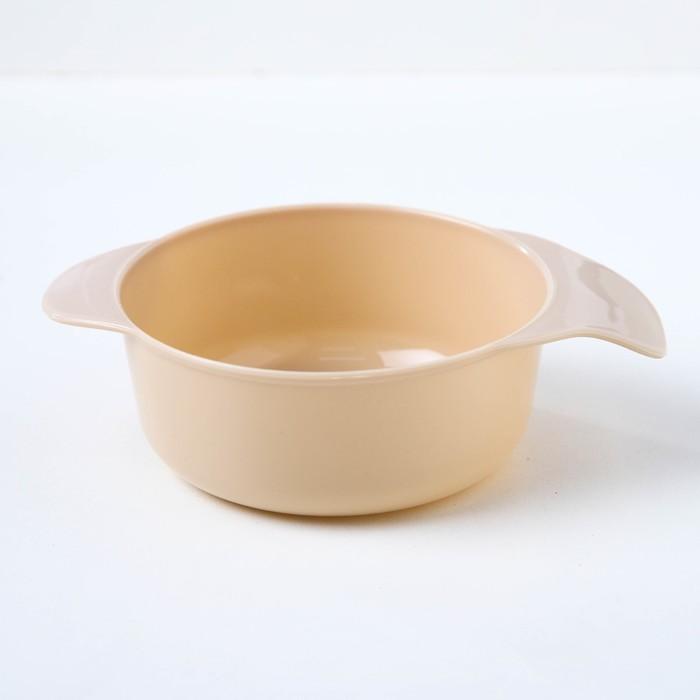 Набор детской посуды, 3 предмета: миска 300 мл, ложка, вилка, от 5 мес., цвет бежевый