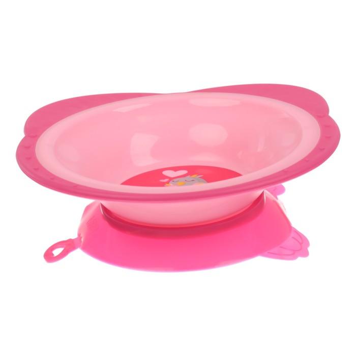Набор детской посуды «Радость», 3 предмета: тарелка на присоске 250 мл, ложка, вилка, от 5 мес.