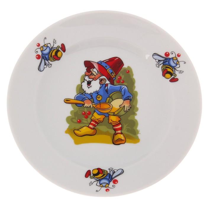 """Набор детский """"Лесовичок"""", 3 предмета: салатник 360 мл, тарелка 17 см, кружка 200 мл"""