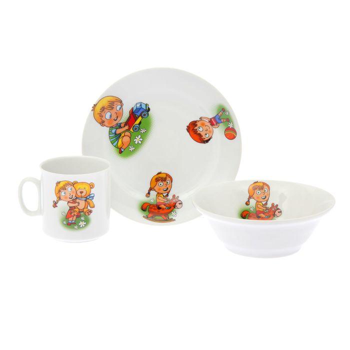 """Набор посуды 3 предмета """"Идиллия. Детство"""""""