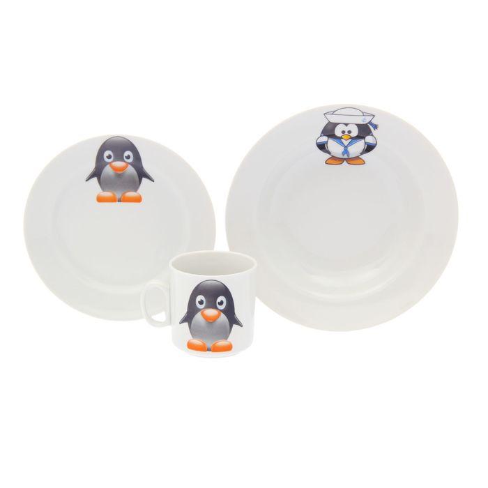 """Набор посуды """"Пингвинчики"""", 3 предмета"""