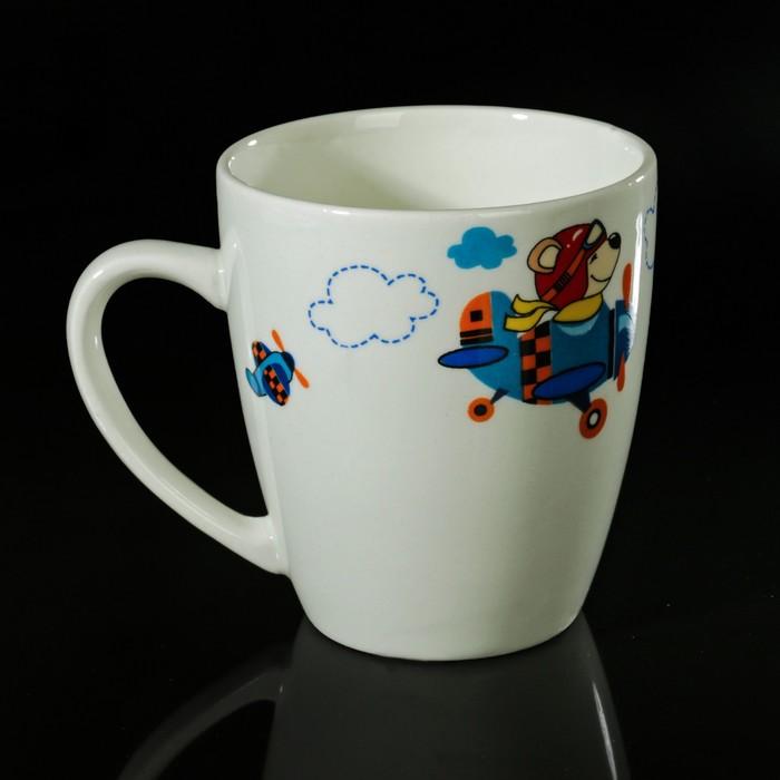 """Набор детской посуды """"Пилот"""", 3 предмета: тарелка 17,5 см, миска 250 мл (d=17,5 см), кружка 260 мл , рисунок МИКС"""
