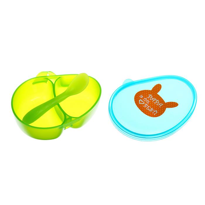 Набор для кормления, 2 предмета: контейнер и ложка