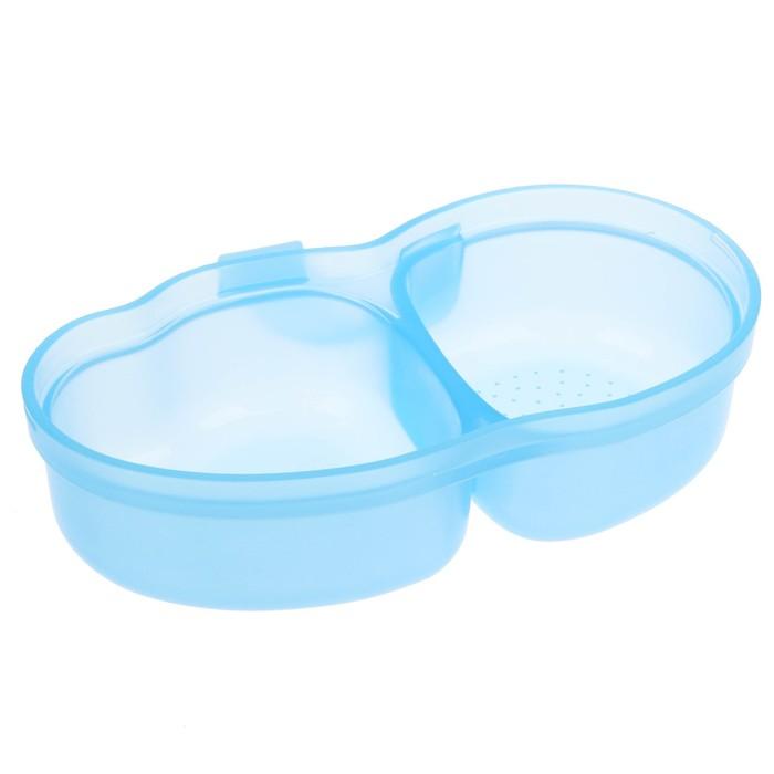 Набор посуды детский, 3 предмета: тарелка с плотной крышкой, тарелка с секциями, ложка.