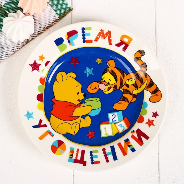 """Посуда детская """"Время угощений"""" Медвежонок Винни и его друзья,3 пред.тарел,салат,кружка"""
