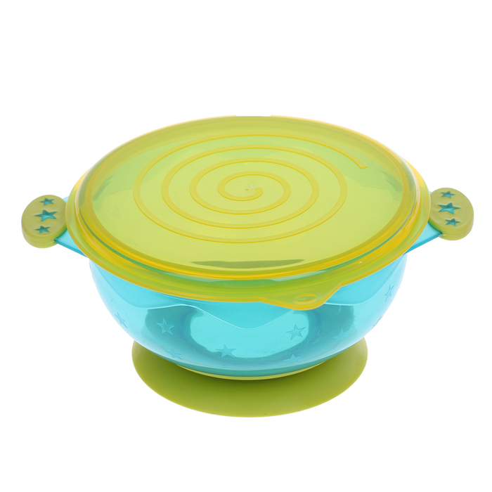 Набор детской посуды: миски на присоске, 3 шт., крышки 3 шт., от 5 мес.