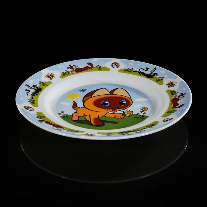 "Набор посуды детский ""Котенок по имени Гав"": тарелка 20 см, кружка 200 мл, миска 550 мл"