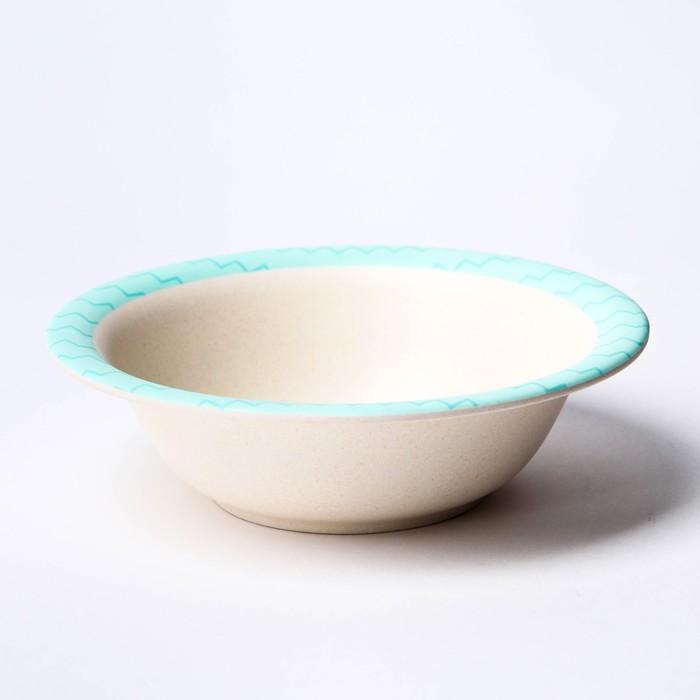 Набор детской посуды «Зебра», из бамбука, 5 предметов: тарелка, миска, стакан, столовые приборы