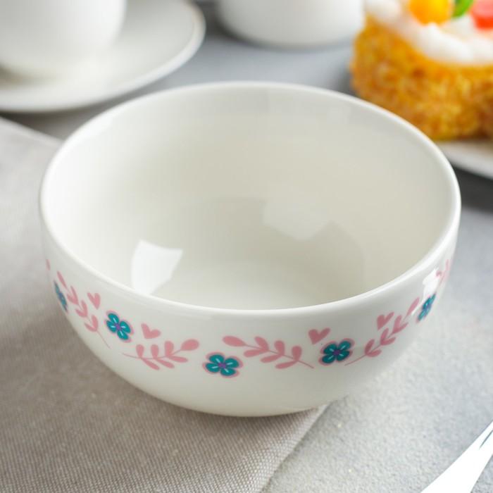 """Набор детской посуды """"Самая прелестная"""", кружка 250 мл, глубокая тарелка 13 см, тарелка 15 см"""