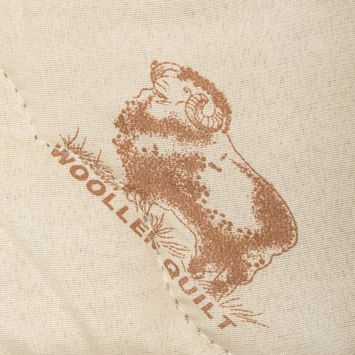 """Одеяло облегчённое Адамас """"Овечья шерсть"""", размер 172х205 ± 5 см, 200гр/м2, чехол п/э"""