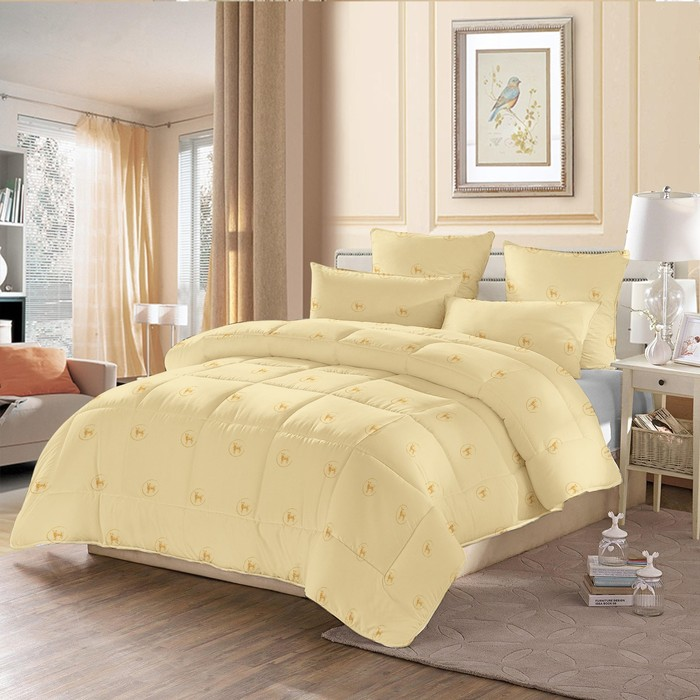 Одеяло стёганое «Овечья шерсть», 140х205 см, чехол полиэстер, наполнитель овечья шерсть/полиэстер (230 г/м2)