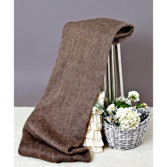 Одеяло полушерстяное, 500 г/м2, 140х205 гладкокрашенное серый, 70% шерсть, 30% лавсан