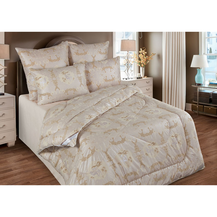 Одеяло обл. 172*205, ОВШ/017эк, шерсть верблюда, ткань глосс-сатин,п/э