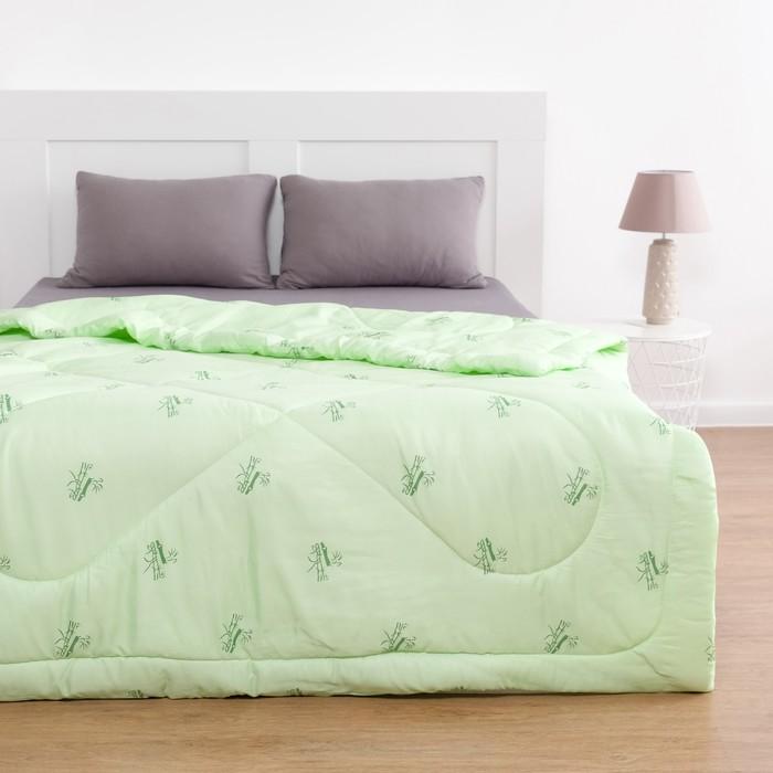 Одеяло Бамбук 220х205 см, полиэфирное волокно 200 гр/м, пэ 100%