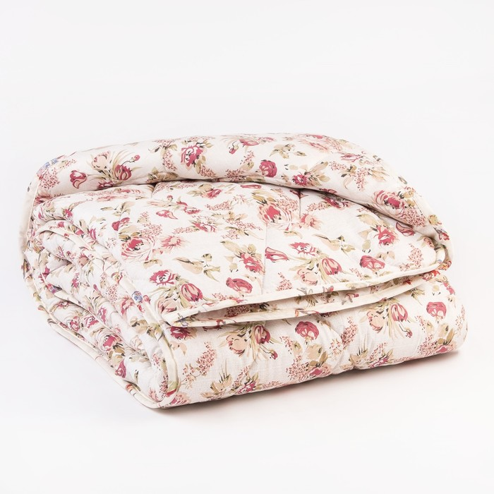 Одеяло Миродель теплое, синтетическое 200*220 ± 5 см, холофан, п/э чехол цвета МИКС, 250 г/м2