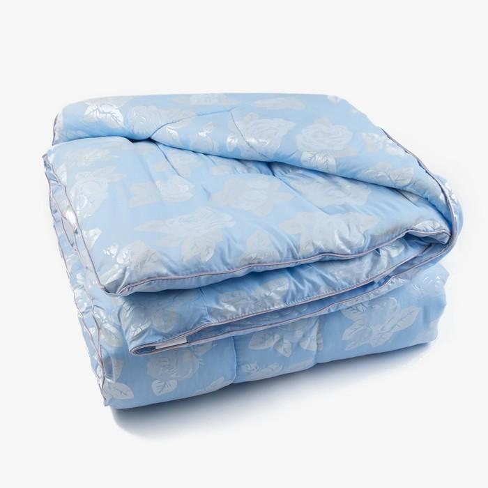 Одеяло Лебяжий пух 145х205 см, 300г/м2, чехол Глоссатин стеганный