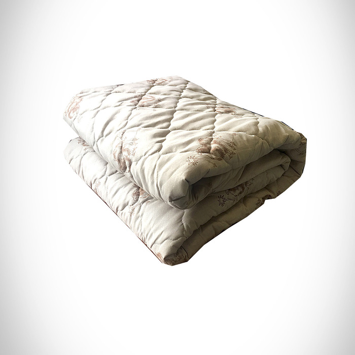 Одеяло Верблюжья шерсть 200х215 см 300 гр, пэ, чемодан