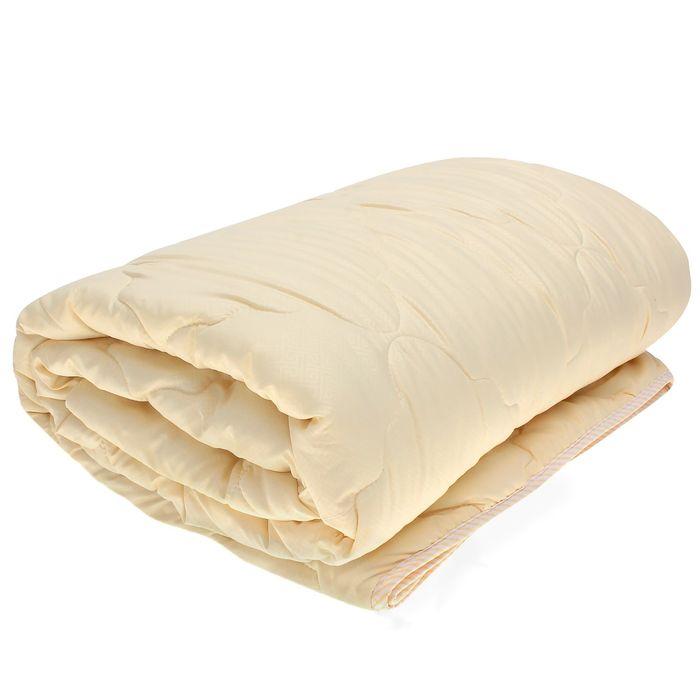 Одеяло Овечья шерсть всесезонное 140*205см,беж,овечья шерсть/силиконизированное волокно,микрофибра,2