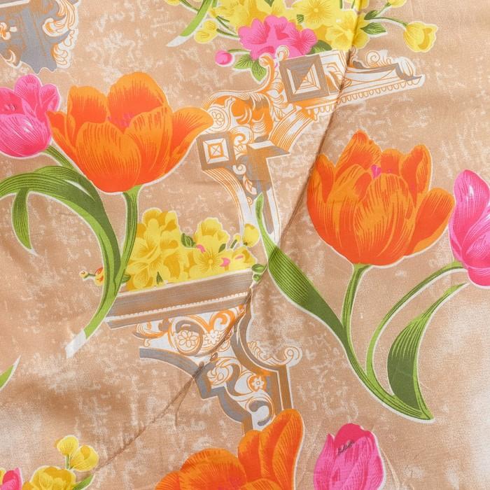 Одеяло всесезонное 140х205 см, цвет МИКС, полиэфирное волокно, полиэстер