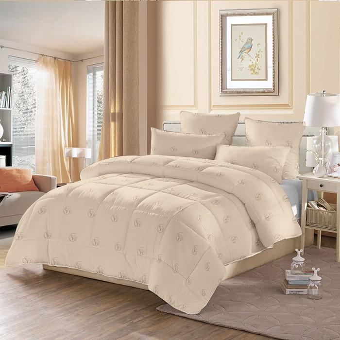 Одеяло стёганое «Верблюжья шерсть», 200х220 см, чехол полиэстер, наполнитель верблюжья шерсть/полиэстер (230 г/м2)
