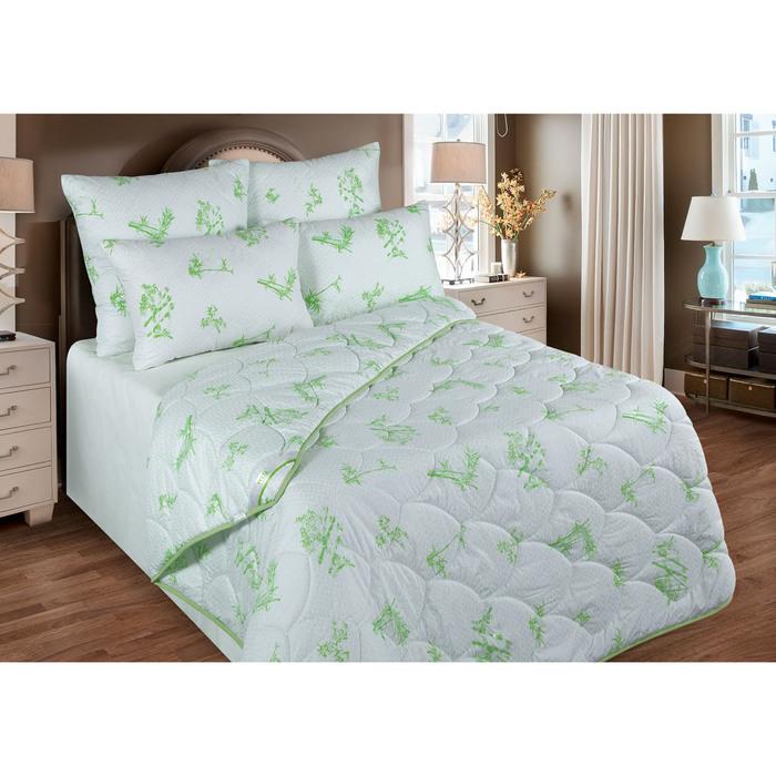 Одеяло обл. 220х205 см, бамбуковое волокно, ткань глосс-сатин, п/э 100%