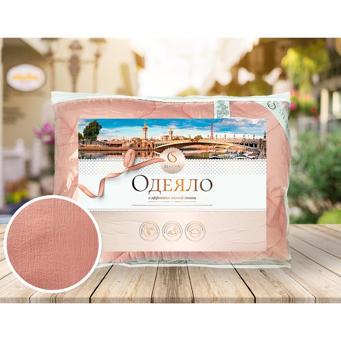 Одеяло Crinkle line 200×215 искусственный лебяжий пух 250 гр/м2, цвет розовый, микрофибра, 100% пэ