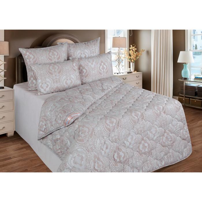 Одеяло станд. 140*205,ОМТ300-15, шерсть овечья,ткань тик, п/э