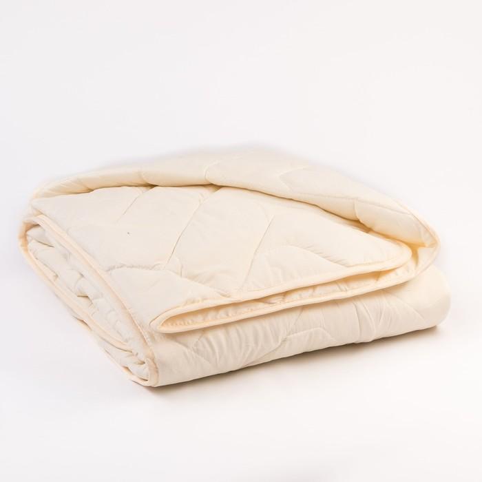 Одеяло Миродель всесезонное, овечья шерсть, 200*220 ± 5 см, микрофибра, 200 г/м2