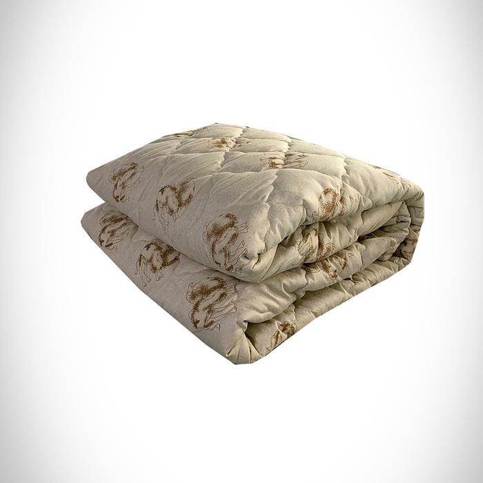 Одеяло Верблюжья шерсть 200х215 см 300 гр, политик, чемодан