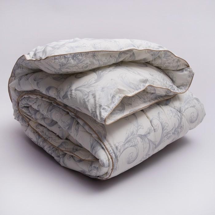 """Одеяло Стандарт  """"Узор"""" лебяжий пух 2,0сп 170х205 см, тик100% п/э"""