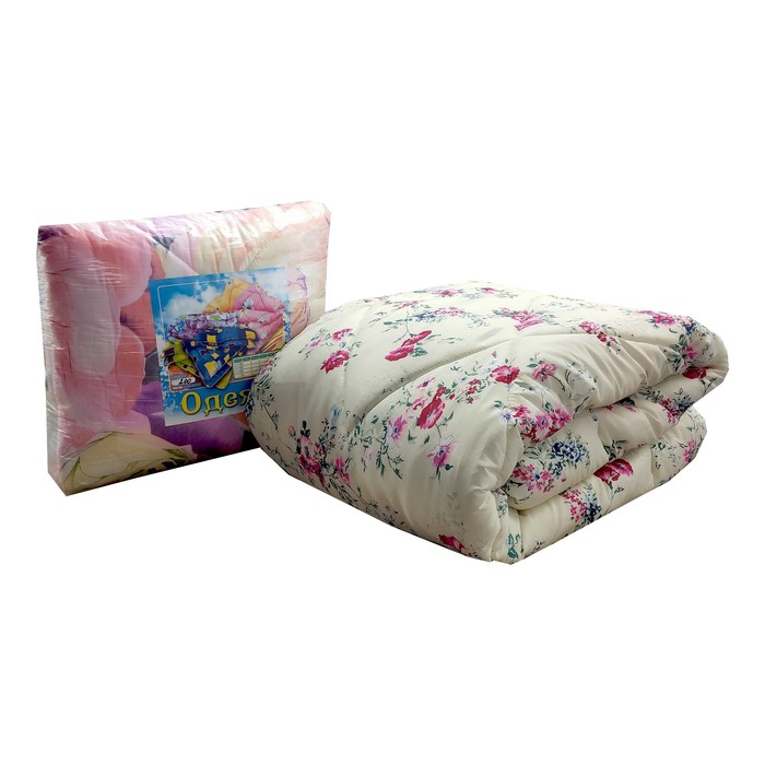 Одеяло Синтепон, 172х205 см, синтетическое волокно 200 гр, цвет МИКС