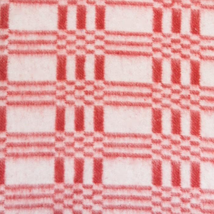 Одеяла байковое 140х205, клетка звездочка, малина, 80% хлопок, 20% полиэстер
