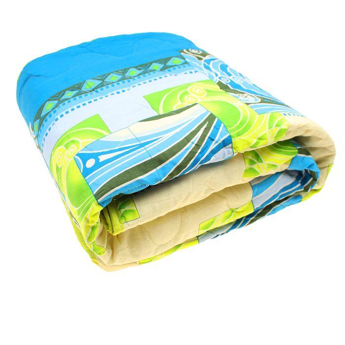 Одеяло Евро облег 200х220 овечья шерсть 200г/м, бязь МИКС 120г/м хл100%