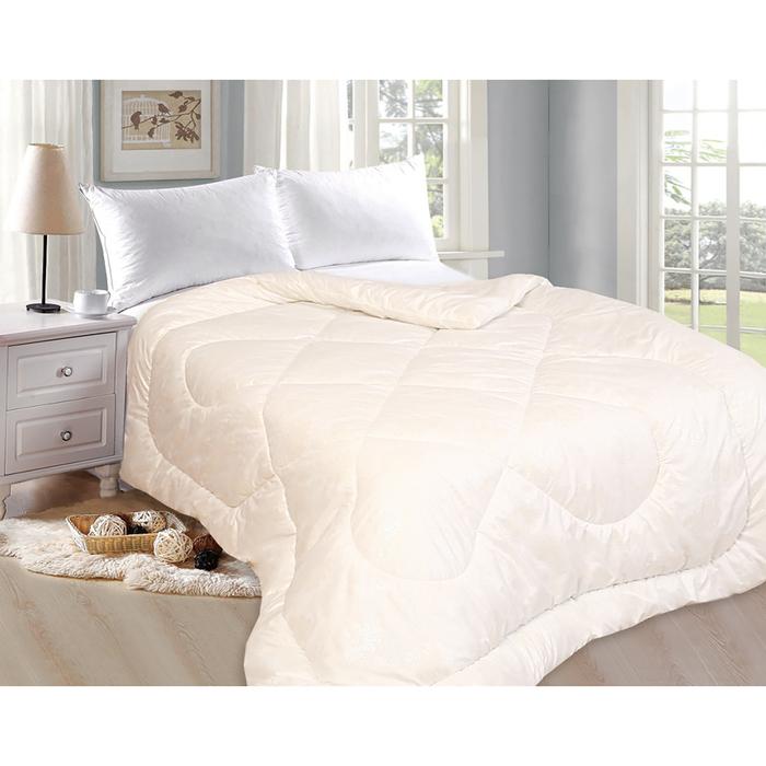 Одеяло «Овечка», 200х220 см, овечья шерсть/иск.лебяжий пух, 200 гр/м2, глоссатин, пэ 100%